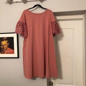 Lane Bryant Crochet Sleeve Dress